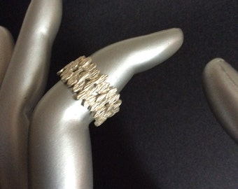 Sterling Silver Filigree Ring Size 6 and 6.5