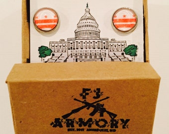 Washington DC Flag Cufflinks