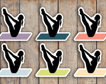 48 Pilates / Yoga / Fitness / Stretching Icon Planner Stickers for 2018 inkWELL Press Planners IWP-Q54