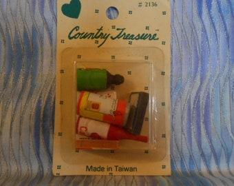 Miniatures Food - Diorama Supplies - Mini Kitchen - Sealed - Vintage