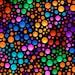 Quilting Treasures - Carnivale - 26374-JX - Dots - © Debi Payne - Geometric - Vivid Color - Blue - Purple - Black - Yellow - One More Yard