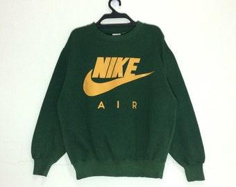NIKE Small Logo Sportswear Black Vintage Sweater Sweatshirt Size XXL JUwUO