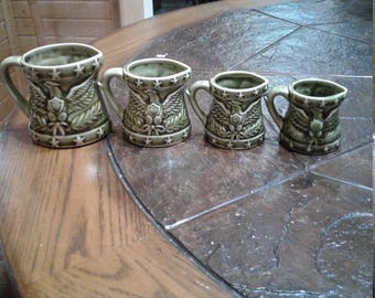 Vintage American eagle ceramic measuring cups made in japan