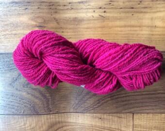 Yarn- 100% Wool- 3 ply Worsted- 150 Yards- Dark Red