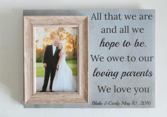 wedding frame,parents thank you gift,personalised wedding frame ...