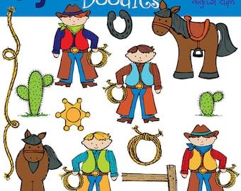 KPM Cowboys digital clipart COMbo
