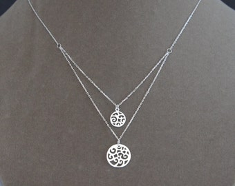 Sterling Silver Swirls Necklace, Mother's Day Gift, Birthday Gift