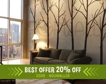 Wall Decal Winter Tree Wall Decal, living room, bedroom Wall decals Wall Sticker art, wall design - 036