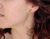 Large  Hoop Earrings  Bold Hoops. Minimalist Earrings Gold earrings Gold Hoops, Square hoop earrings