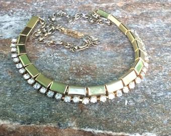 Wedding Statement Necklace signed TARA Rhinestone Wedding Jewelry Bridal Accessory Wedding Accessory