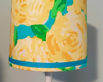 Lilly Pulitzer Lampshade In First Impressions Yellow Lamp Shade ONLY!