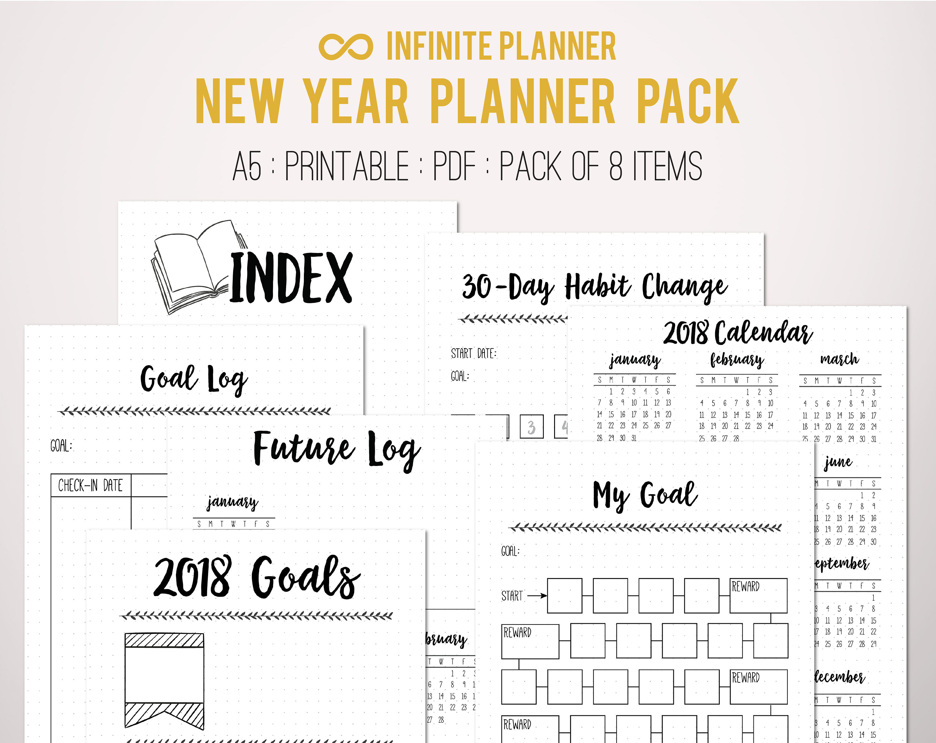 It is a photo of Impertinent Bullet Journal Printable