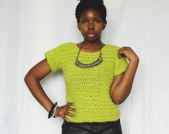 The Heights Crochet Sweater Top Pattern. Instant Download!