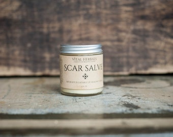 Scar cream - scar salve - scar fading - vital herbals - acne scar cream - herbal salve - scar balm