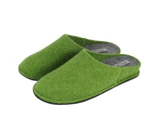 Solid-colour cooked wool slipper 100% Made in Italy