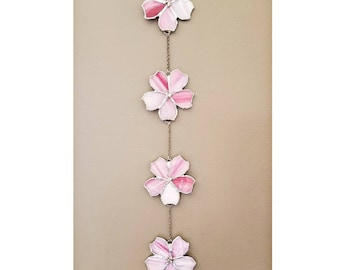 Cherry blossom wall hanging, Suncatcher, spring decor