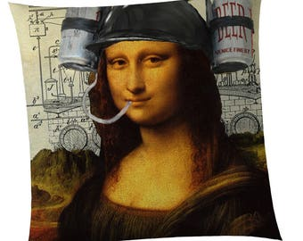 Beer Decor Pillow - Mona with Beer