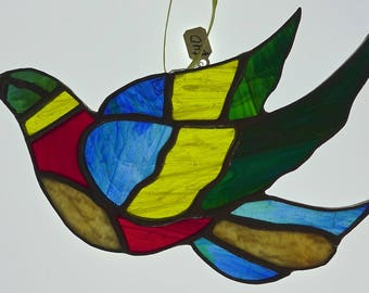 Bird With Open Wings Stained Glasss