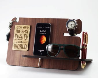 Gift for men / Fathers Day Gift / Gift for Father / Gift for Dad / Fathers Day / Personalized gift / Gift for Him / Docking Station
