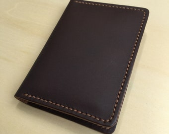 Leather Fold Card Holder. Card Case. Credit Card Case. Leather Fold Wallet