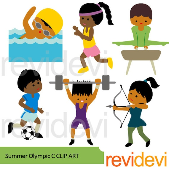 sport clipart sale bundle summer olympic clip art instant rh etsy com Olympic Torch Clip Art Olympic Medal Clip Art