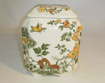 Mason's Manchu square lidded jar - original from the 1940's