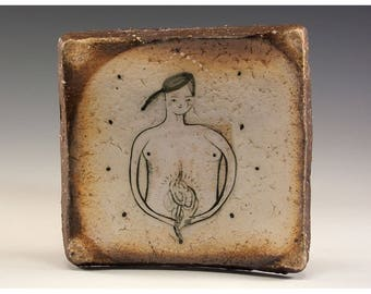 Exquisite Wood Fired Square Plate by Jenny Mendes - CC
