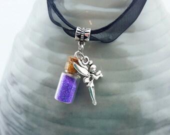 Fairy jewelry etsy tiny fairy necklace handmade fairy necklace glow in the dark fairy necklace fairy aloadofball Gallery