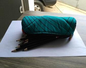 T015 - Kit school round wax (pencil box) canvas