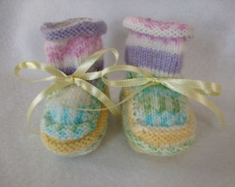 Handknit Booties - Soft Colors - Why I Made Them