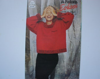Patons 631  Echoes  Sweaters for Ladies and Men