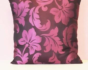 Georgeous, Handmade Purple Floral Cushion Cover