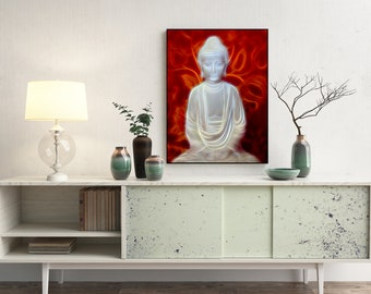 Neon Buddha Fine Art Print - Fine Art Print or Canvas, Limited Edition