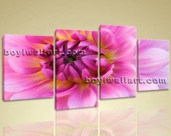 """Large Contemporary Abstract Floral Picture Print Wall Art Canvas Flower Petals, Flower wall art,  art print, 67""""x36"""""""
