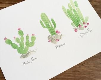 Cacti Print 12x8