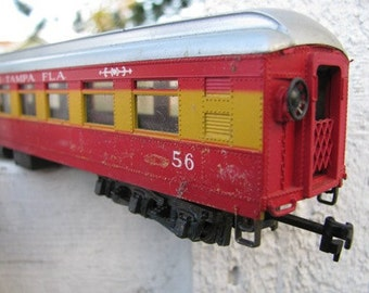 Circus Carnival 1960's HO Scale Dining Car 56 Royal American Shows Tampa Florida Made in Italy Railroad Trains retro 60's Toy RIVAROSSI