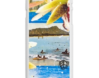 iPhone 6s/6, iPhone 6s/6 Plus Case, BLUE HAWAIIAN, iPhone6s, iPhone 6s Plus, Diamond Head, Best iPhone Case, Avail Black or White case color