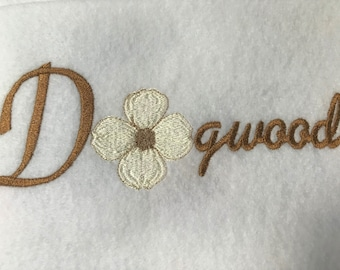 Dogwood Name, Flower Embroidery File, 5x7 Instant Download