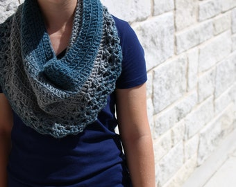 Handmade Soft Lace Crocheted Cowl