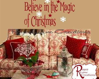 Christmas Decorations - Believe in the Magic of Christmas #2 Wall Decal