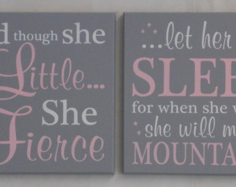 Pink Gray Nursery Decor Baby Girl Nursery Wall Decor Elephant - Pink and grey nursery decor