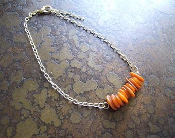 Apricot Glass Serenity Chain bracelet