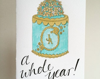 Bespoke 1st Year Wedding Anniversary Card