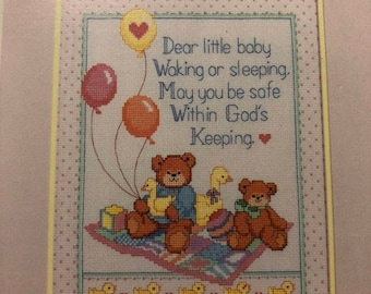 MAYniaSALE Dimensions, Lucy Rigg, Bear Parade, Book Four, Vintage, 1986, Counted Cross Stitch Pattern