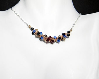 "Once Upon a Time Prince Charming Inspired Swarovski Crystal Necklace Beadweaving Sterling Silver -  ""This Charming Man"""