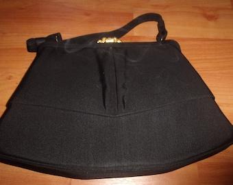 vintage purse handbag black