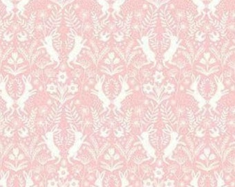Quilting Cotton - LEWIS AND IRENE - Salisbury Spring - Hares on Pink - 1/2m piece