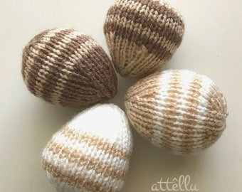 Set of 4 Knitted Eggs / Easter Eggs / Spring Decoration
