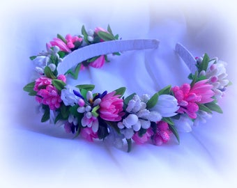 Floral crown, Wedding flower crown, Flower headband, Bridal floral crown, Bridal crown, Wedding hair wreath wedding crown floral head wreath