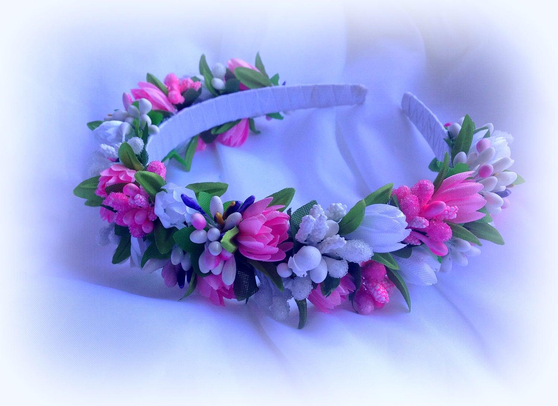 Floral Crown Wedding Flower Crown Flower Headband Bridal